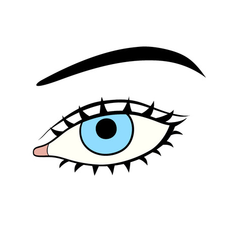 illustrate: This is an illustration of woman eye Illustration