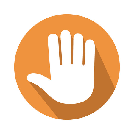 five: This is an illustration of five fingers gesture