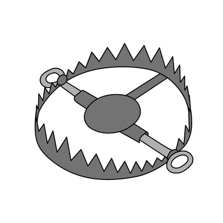bear trap: This is an illustration of bear trap Illustration