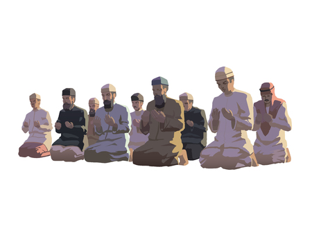 ramzan: This is an illustration of ramadan prayers