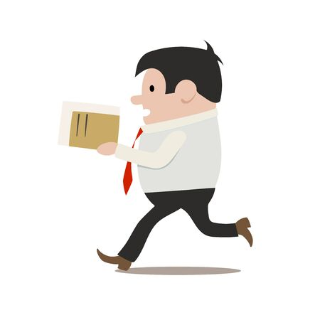 chaser: This is an isolated clerk in a hurry Illustration