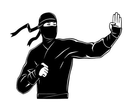 character traits: This is an illustration of ninja