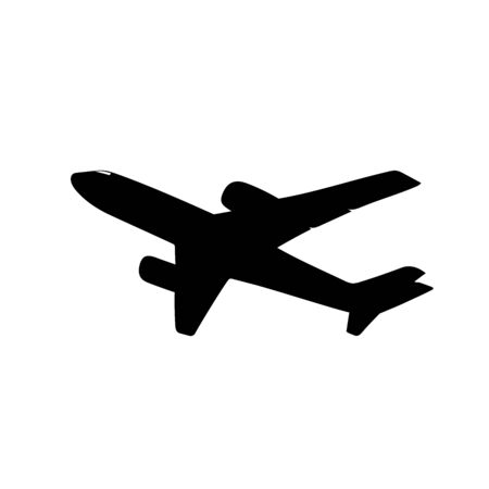 aerospace: this is an illustration of airplane silhouette