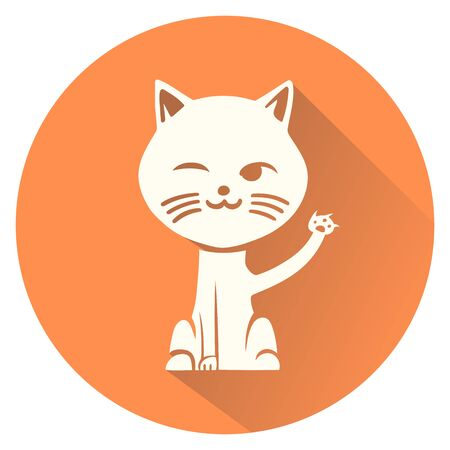 cat illustration: This is an illustration of a cat symbol