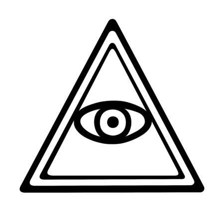 This is an illustration of an eye of providence
