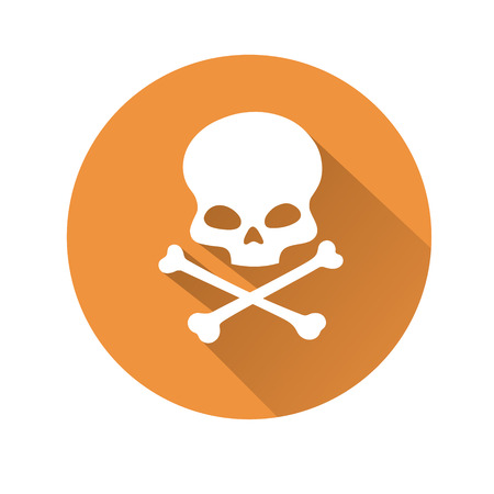 dangerous: This is an illustration of a skull symbol Illustration
