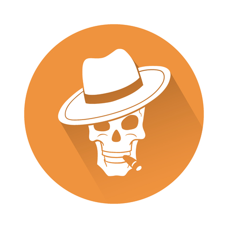 paint: This is an illustration of a skull with hat
