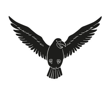 Dies ist ein Beispiel für eine schwarze Vogel Silhouette
