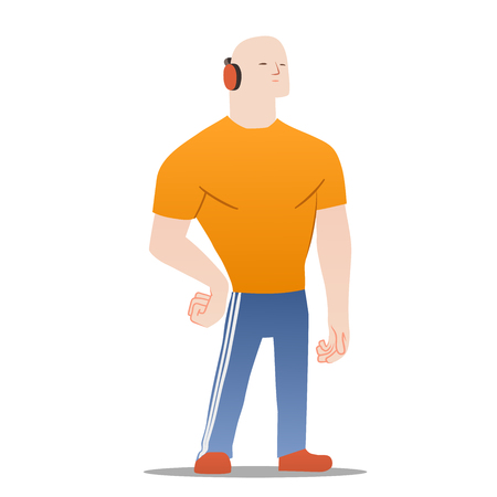 sexy muscular man: This is an illustration of sportsman