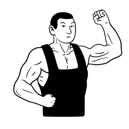 strongman: This is a vector illustration of strongman