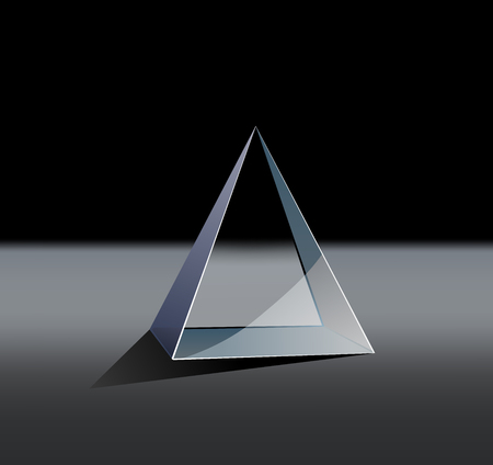 This is an illustration of a glass pyramid