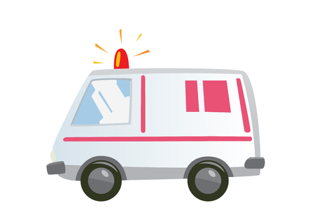 ambulance car: This is an illustration of an isolated Ambulance car