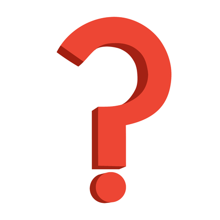 questionably: This is an illustration of a question symbol Illustration