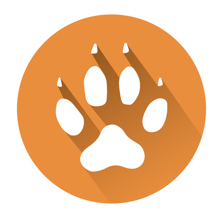 huellas de perro: This is an illustration of a dog paw print
