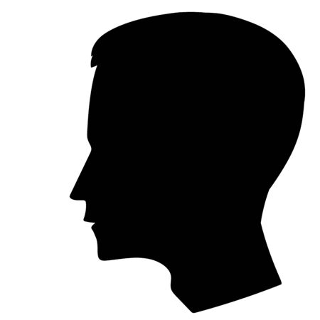 lit collection: This is an iilustration of mens head silhouette Illustration