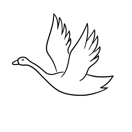 This is a vector illustration of swan