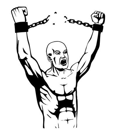 esclavo: ilustraciones de esclavos Vectores