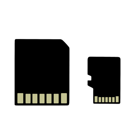compartment: This is an illustration of an sd card an micro sd card Illustration