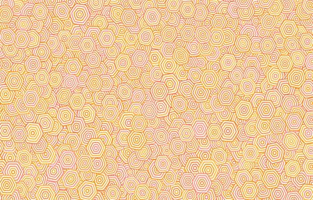 hexagonal pattern: This is an illustration of orange hexagonal pattern background Illustration