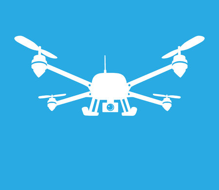 remote view: This is an illustration of quadcopter symbol Illustration