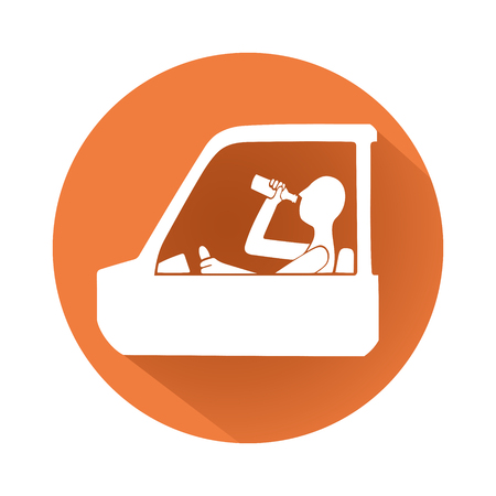 drunk driving: This is an illustration about drunk driving symbol Illustration