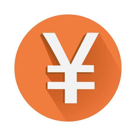 This is an illustration of yen symbol Иллюстрация