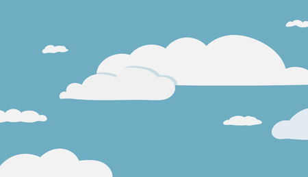 This is an illustration of background with clouds