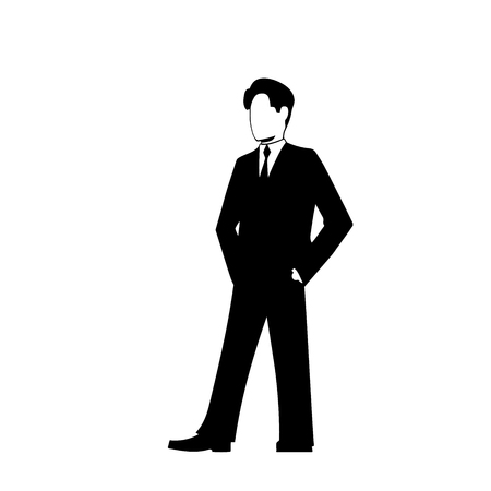 supercilious: This is the illustration of businessman silhouette Illustration