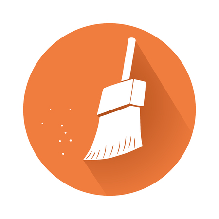 midsection: This is an illustration of cleaning brush symbol Illustration