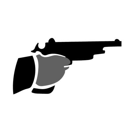 This is an illustration of a hand with pistol