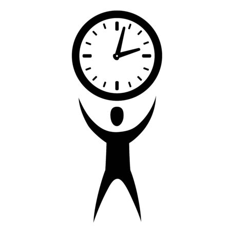 This is an illustration of man with clock