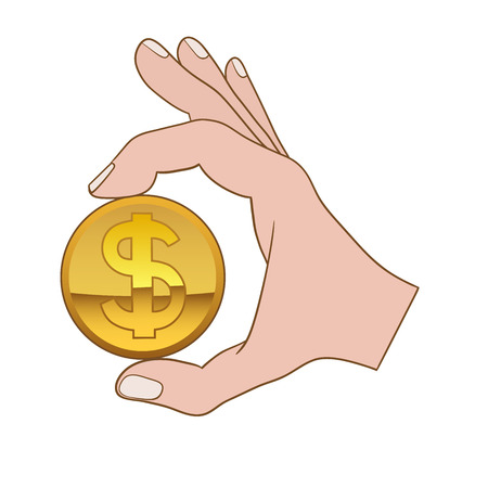 This is an illustration of giving money symbol