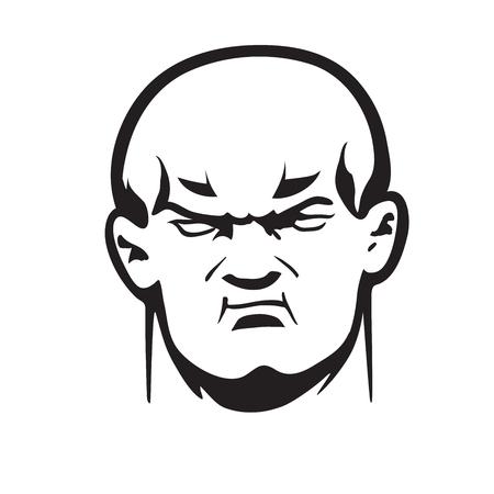 hoodlum: This is an illustration of big bully head Illustration