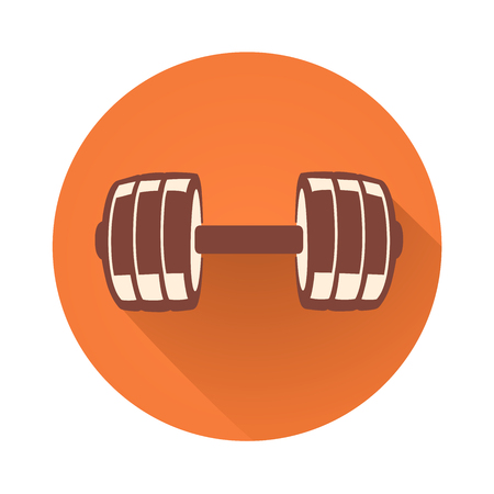 athleticism: This is a vector illustration of dumbbell