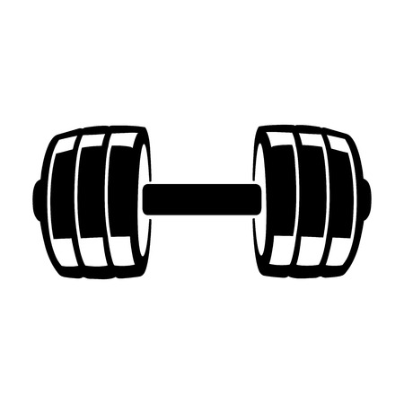 This is a vector illustration of dumbbell