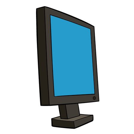 This is an illustration of pc monitor Иллюстрация