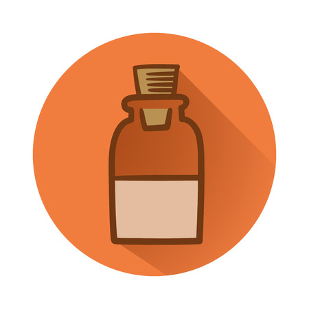 This is an illustration of chemical bottle