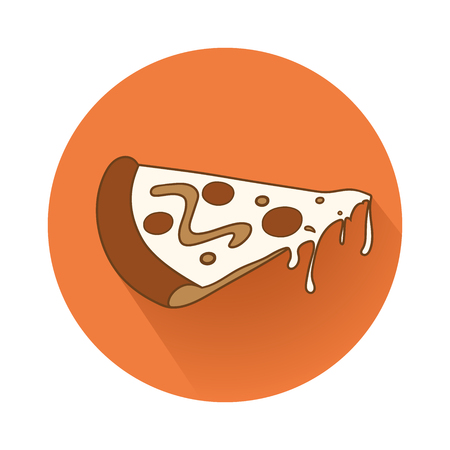 This is the illustration of pizza piece