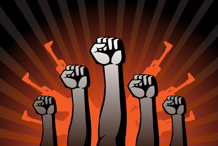 agitation: this is an illustration of revolutionary agitation