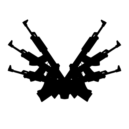 war paint: This is an illustration of automatic gun background element