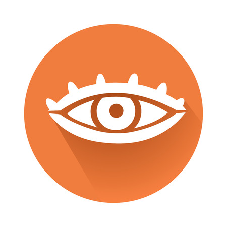 This is an illustration of an eye symbol