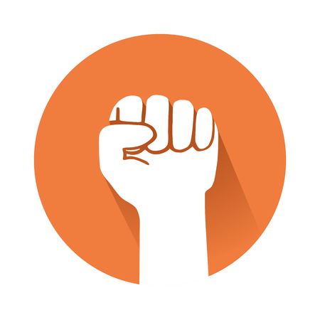 This is an illustration of a raised fist Иллюстрация