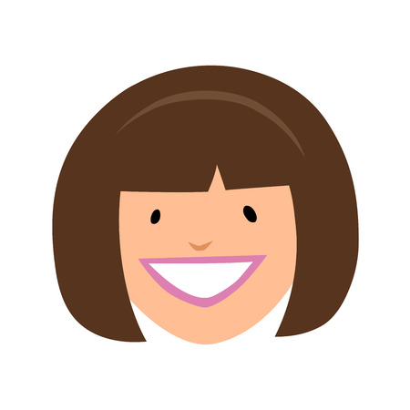 This is an illustration of smiling girl face Иллюстрация