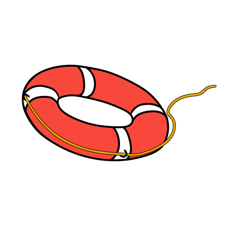 This is an illustration of lifebuoy