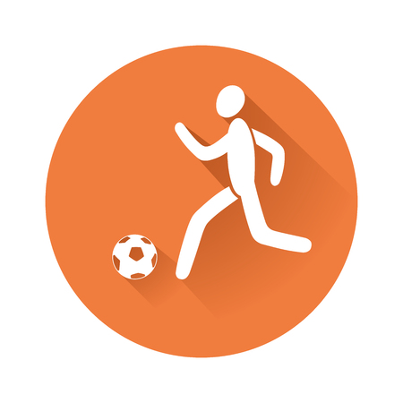 This is an illustration of soccer player Иллюстрация