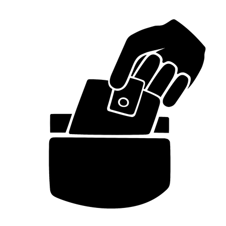 This is an illustration of pickpocketing symbol