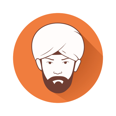 turban: This is an illustration of mans head with turban