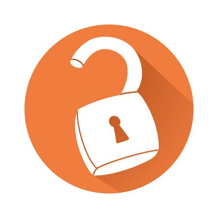 unlocked: This is an illustration of unlocked padlock