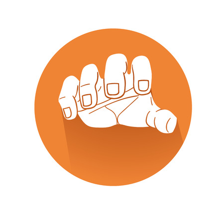 This is an illustration of grabbing hand symbol