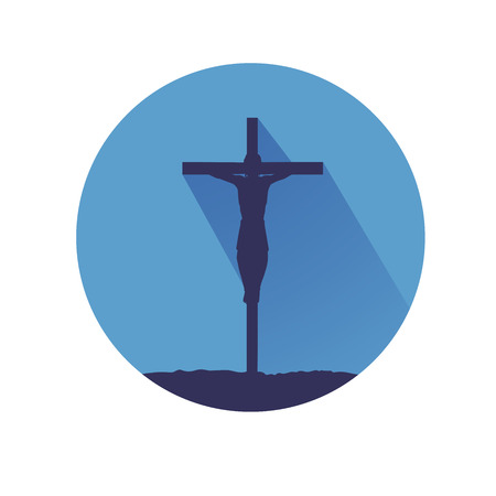 This is an illustratio of jesus on cross
